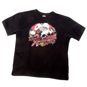 Happy Harley Holidays XL Harley Davidson T Shirt